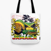 jamaica Tote Bags featuring Jamaica by Tshirt-Factory