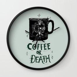 Coffee or Death Wall Clock