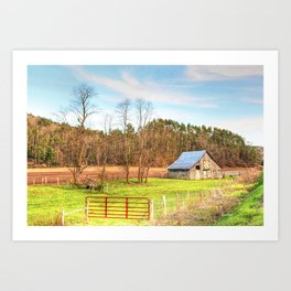 West VA Quilt Barn Trail Art Print