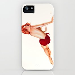 Vintage Pinup Girl iPhone Case