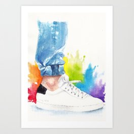 You can tell a man by his ankle: The Power Activated (Louis Tomlinson) Art Print