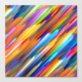 Colorful digital art splashing G391 Canvas Print