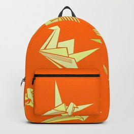 Origami Cranes Orange & Beige Design Pattern Backpack