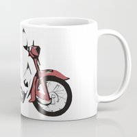 motorbike Mugs featuring Motorbike by Ryan Ly