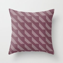 Simple Geometric Pattern 4 in Mulberry Throw Pillow