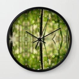 Magic doorway okra Wall Clock