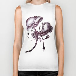 The body's tendency to elongate when not being constantly compressed by gravity Biker Tank