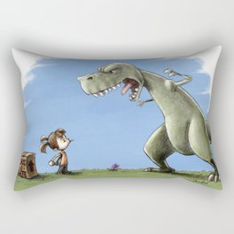 Chocolate Confrontation Rectangular Pillow