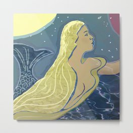 Mermaid / Venus Metal Print
