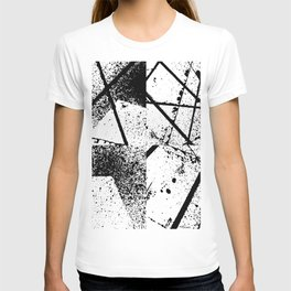 black abstract paint T-shirt