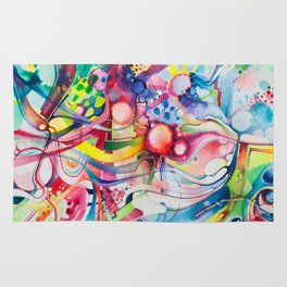 Nice Clowns You Got There - Watercolor Painting Rug