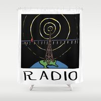 radio Shower Curtains featuring Radio by Ken Coleman