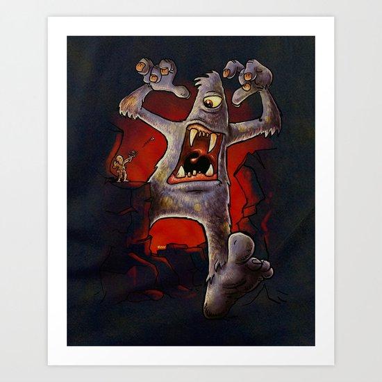 Monster! Art Print