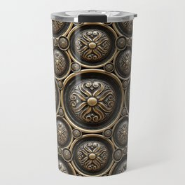 Antique Armor Pattern Travel Mug