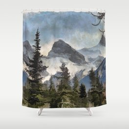 The Three Sisters - Canadian Rocky Mountains Shower Curtain