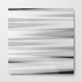 Black and White Stripes Abstract Metal Print