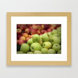 Fresh Apples Framed Art Print
