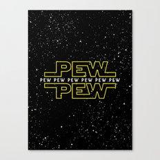 Pew Pew v2 Canvas Print