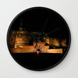 Edinburgh Castle By Night 2 Wall Clock