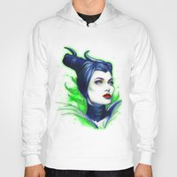 maleficent Hoodies featuring Maleficent by marziiporn