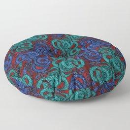 Thai Naga Red Floor Pillow
