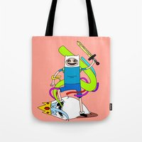 finn Tote Bags featuring Finn  by TheRealEricEndy