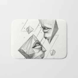 Surreal Geometry Shapes Bath Mat