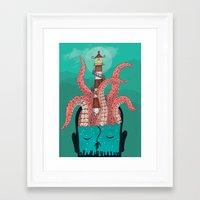 sleep Framed Art Prints featuring Sleep by Arron Croasdell