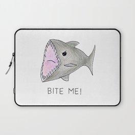 Funny Shark Bite Me Laptop Sleeve