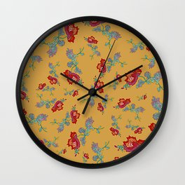 Peony Popper Wall Clock