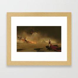 Hero vs Giant Framed Art Print