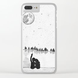 Stargazing on the lake Clear iPhone Case