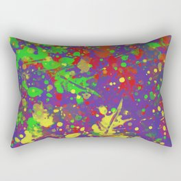 Expr3ss Y0ur5e1f - Expressive, abstract colour splatter painting Rectangular Pillow