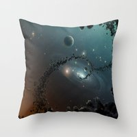 big bang Throw Pillows featuring Big Bang by SwanniePhotoArt