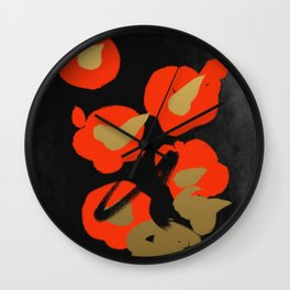 Flower(Tsubaki) Wall Clock