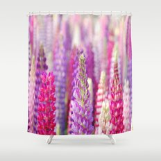 Pink & Purple FLowerS Shower Curtain