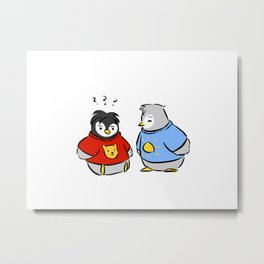 baby penguin sweaters Metal Print