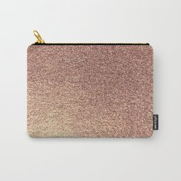 Rose Gold Glitter And Marble Carry-All Pouch