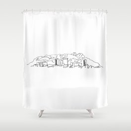 El Paso Skyline Drawing Shower Curtain