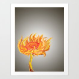 Flame Flower Art Print
