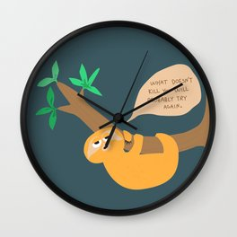 Sloth on the hang Wall Clock