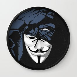V For Bat (B Edition) Wall Clock