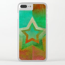 Suprematist Star IV Clear iPhone Case