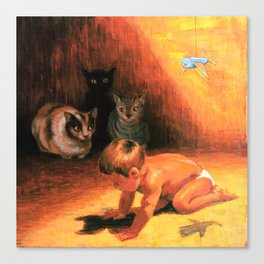Goya's cats Canvas Print