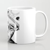 biggie smalls Mugs featuring Biggie Smalls Stippling by Tom Brodie-Browne