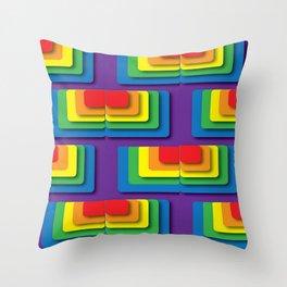 Rainbow Squere Throw Pillow