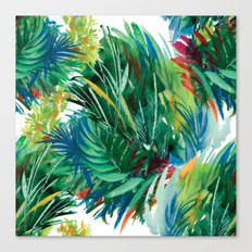 Tropical Watercolor Pattern Canvas Print