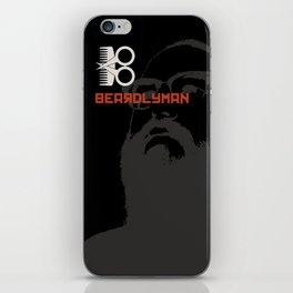 Beardlyman Face on Black iPhone Skin