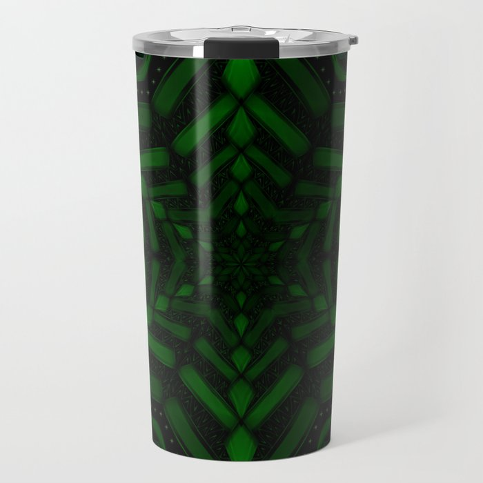 Fractal Forest Flake Travel Mug