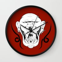 cyclops Wall Clocks featuring Cyclops by Jorge Daszkal